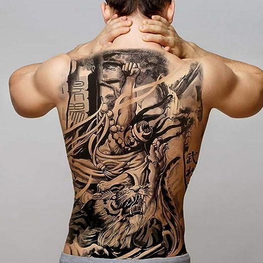 Handaxian 2pcs-Large Tatuaje Trasero Completo Totem Impermeable ...