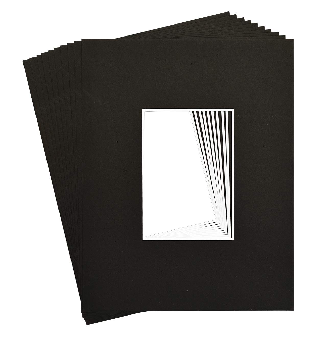 10 11x14 8-ply mat mattes BLACK for 5x7 Photo picture by Golden State Art