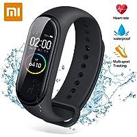Xiaomi mi band 4 Smart fitness armband hartslagmeter 135 mAh kleurenbeeldscherm Bluetooth 5.0 nieuwste (zwart)