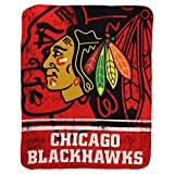 "NHL ""Vintage Fade"" Team Logo Fleece Throw Blanket (Chicago Blackhawks, 50"" x 60"")"