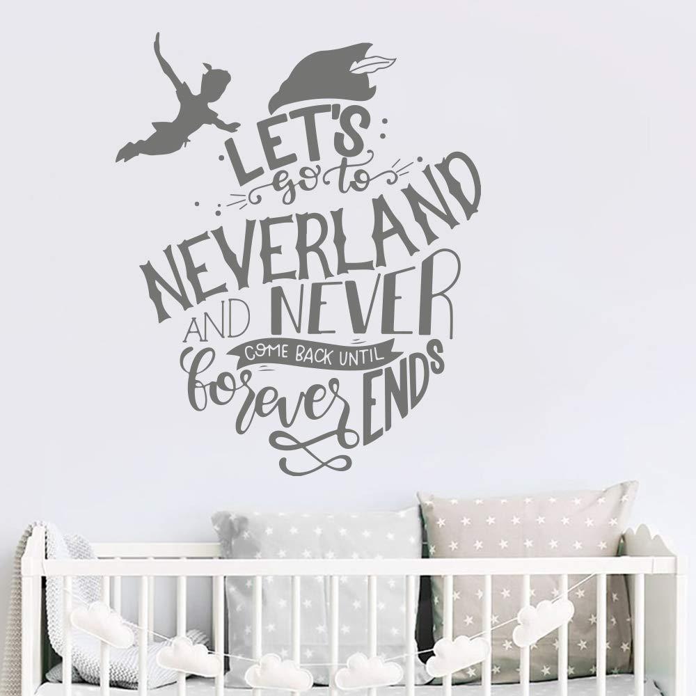 haotong11 Peter Pan Permite IR a Neverland Citar Tatuajes de Pared ...