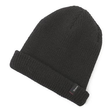 ecd40cfa719 Brixton Hats Heist Beanie Hat - Black 1-Size  Amazon.co.uk  Clothing