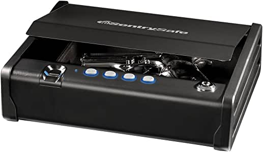 SentrySafe QAP1BE Gun Safe with Biometric Lock, 1 Capacity