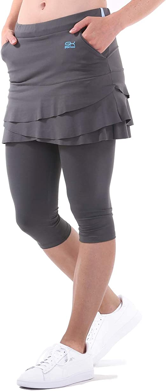 Skirt Sports Womens Women/'s Triple Pocket Tight