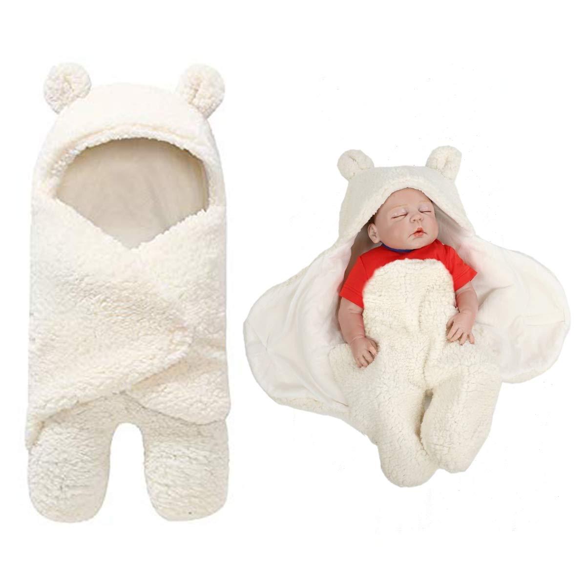 BB Hapeayou Couvertures pour nouveau-né s mignons pour bé bé s, bé bé s, garç ons et filles (blanc laiteux) bébés garçons et filles (blanc laiteux)