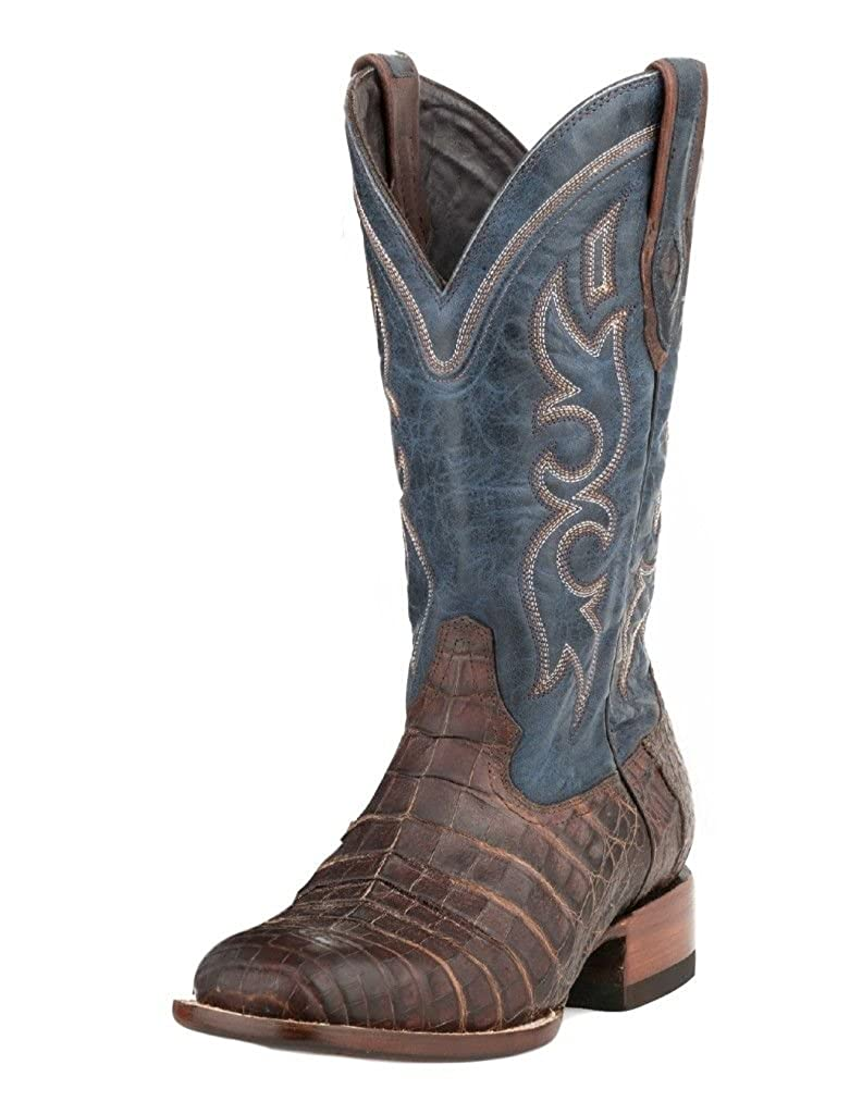 fb43928e373 Amazon.com | Stetson Men's Honey Caiman Belly Western Boot Square ...
