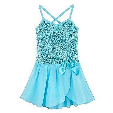 eb07bd51e410 Amazon.com  Alvivi Kids Girls Glitter Sequined Camisole Leotard ...