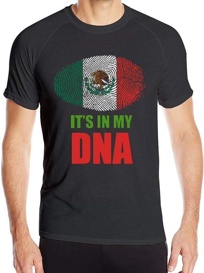 Mexicano Está en mi ADN Bandera Mexicana Camisetas de Manga Corta para Hombre Camisetas de Entrenamiento de Secado rápido: Amazon.es: Ropa y accesorios