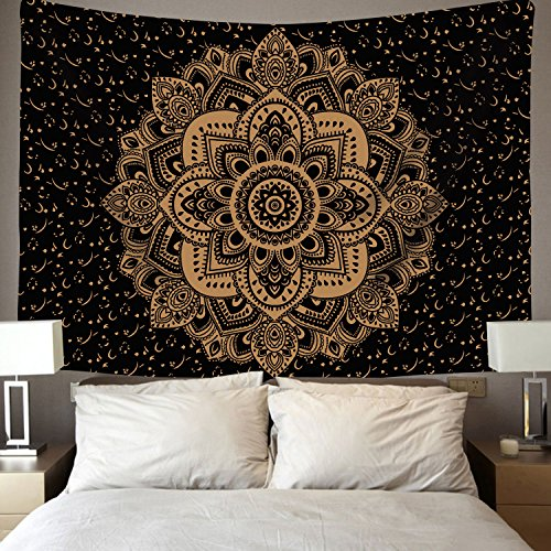 Sunm Boutique Popular Ombre Mandala Tapestries Hippie Bohemian Mandala Tapestry Wall Hanging Throw Indian Mandala Wall Tapestry for Bedroom Dorm Decor Wall Hanging (59.1