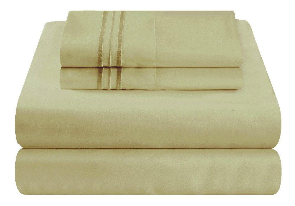 Mezzati ラグジュアリーベッドシーツセット – ソフトで快適な1800 プレステージコレクション – 起毛マイクロファイバー寝具 California King グリーン 784672148023 B00IZ220BW California King|グリーン グリーン California King