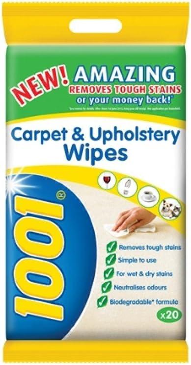 Oto 1001 Carpet Upholstery Wipes Pack 20 Amazon Co Uk Kitchen Home