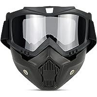 Sport Outdoor Occhiali da sole anti-UV retro Knight maschera antivento occhiali da Cross-Country leggero anti-impatto moto per lo sci equitazione e arrampicata