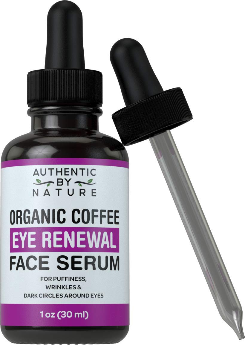 Dark Circles Under Eye Treatment - Organic Coffee Bean Eye Renewal Face Serum by ABN. For Dark Circle Bags, Puffiness, and Wrinkles. Best Anti Aging Cream and Dark Spot Concealer Alternative for Face by Authentic By Nature