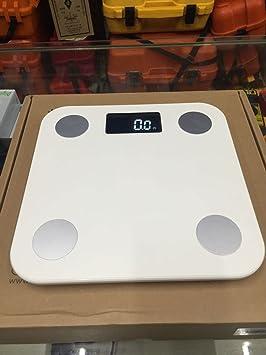 ZhangTianShi Báscula de baño Balanzas electrónicas saludables Encendedor Balanzas de grasa para el cuerpo inteligente Balanzas