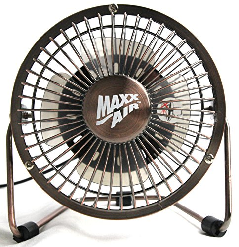 MaxxAir HVDF6 High Velocity 6-Inch Metal 5V Desk Fan with 3 Polypropylene Blades