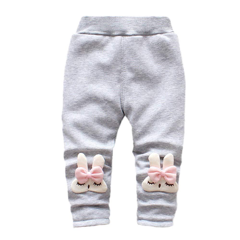 Zerototens Girls Pants, 0-3 Years Old Toddler Kids Pants Autumn Winter Thicken Warm Cartoon Rabbit Child Leggings Hot Pants For The Newborn Girl Sports Pants Casual Pants