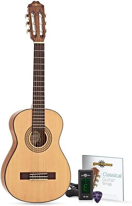 Guitarra clásica Junior 1/2 de Gear4music, natural, perfecta para ...