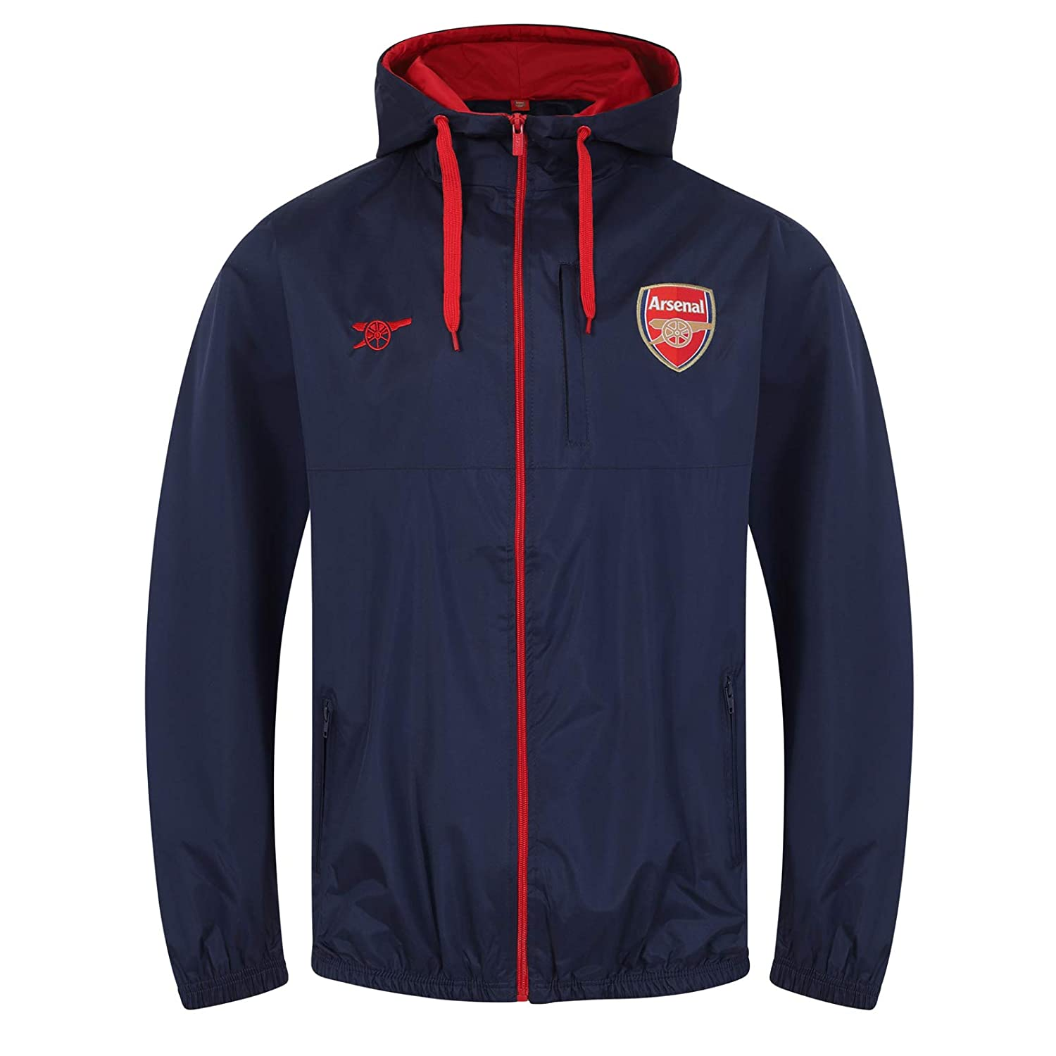 Arsenal FC Official Football Gift Mens Shower Jacket Windbreaker