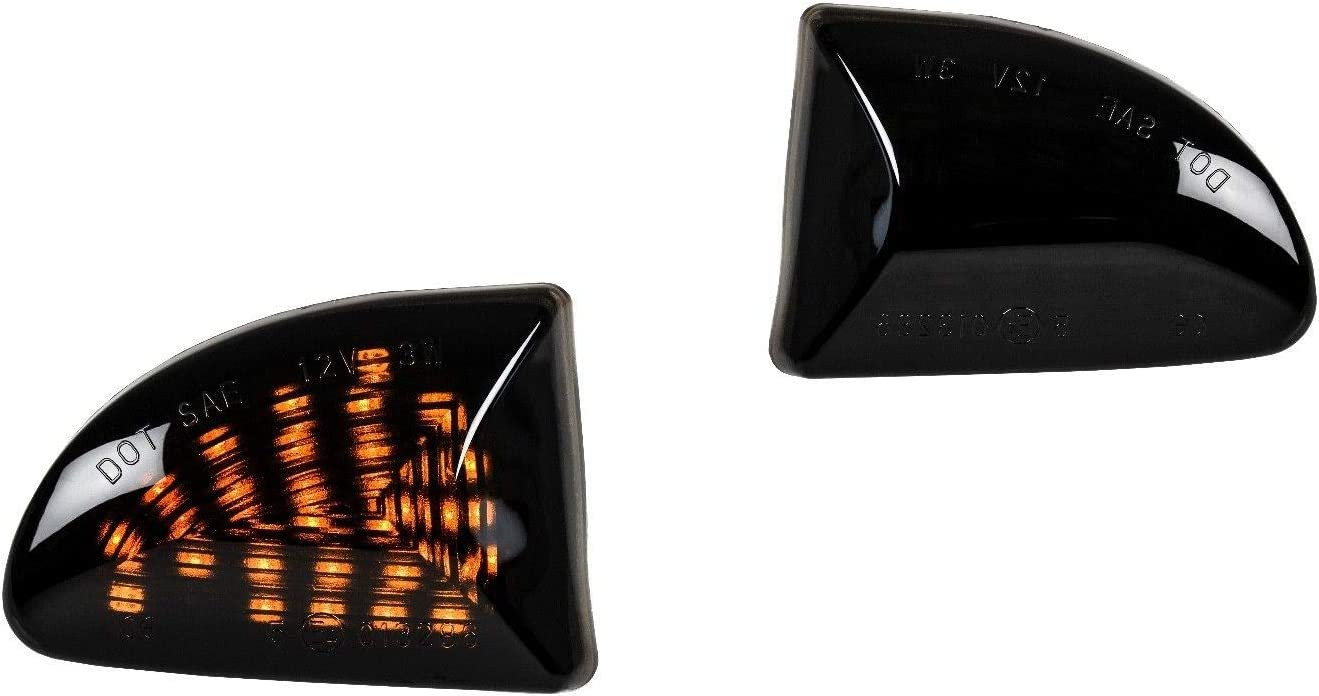 2 intermitentes laterales LED SMOKE negro para 451 fortwo SB22