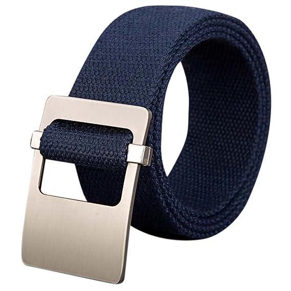 ishine cinturones hombre elasticos Mujer Cinturones de Lona Cinturón  Trenzado con Hebilla para Pantalones  Amazon.es  Ropa y accesorios 6aeb6b29727f
