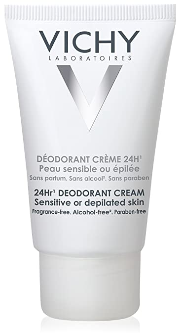Vichy 24-Hour Deodorant Cream for Sensitive Skin, 1.35 Fl. Oz.