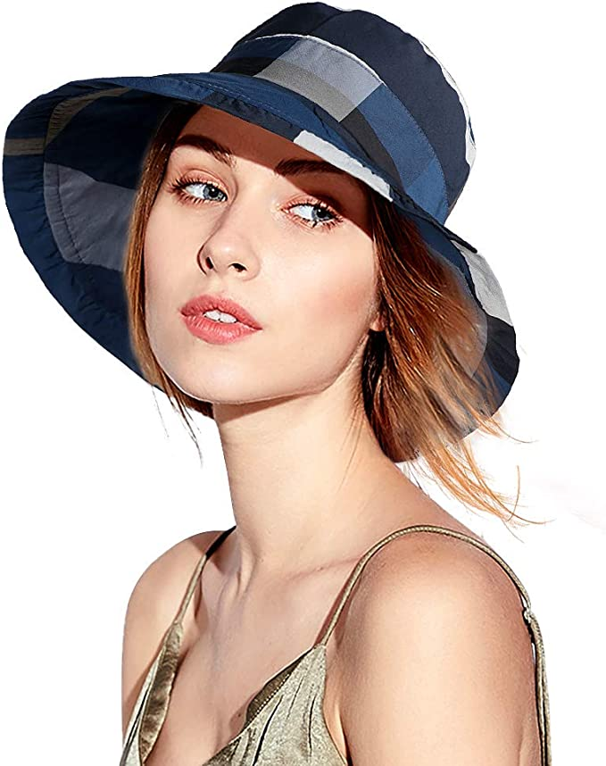 Cappello Da Sole Donna Pieghevole SUPER GRANDE orlo donne Fedora Cappello Da Sole Viso Protezione UPF