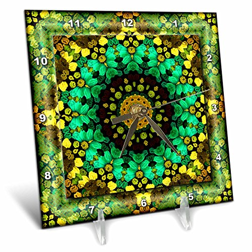 Mandala 29 Floral Flowers Green Turquoise Gold Glowing Peace