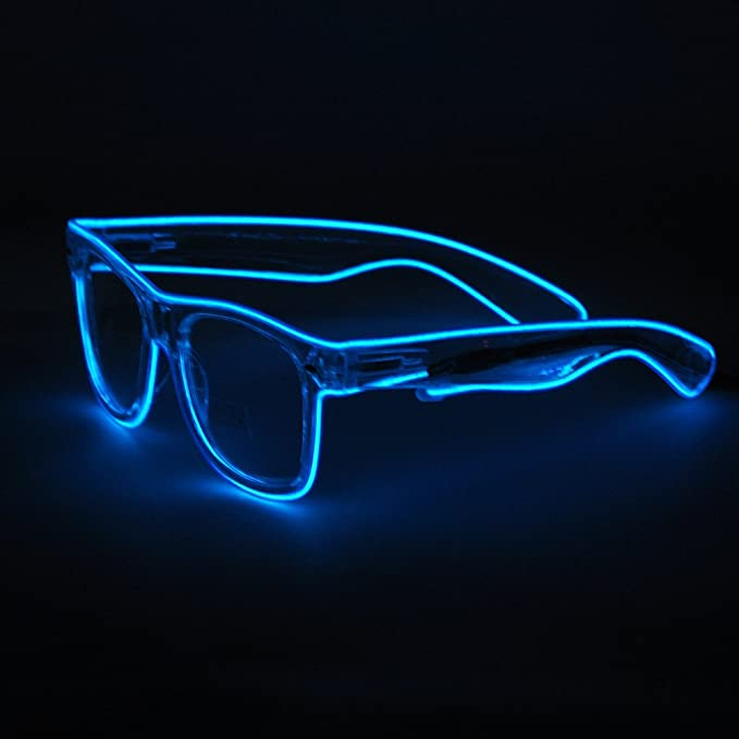 Amazon.com: Gafas de sol con luz LED para fiestas, diseño de ...