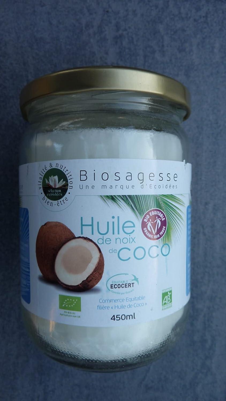 Huile de noix de coco bio pour la cuisson - 450 ml - Biosagesse: Amazon.fr: HygiÚne et Soins du corps