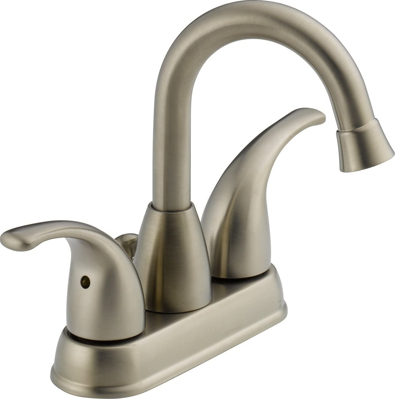 Peerless P99694LF-BN Apex Two Handle Centerset Bathroom Faucet, Brushed Nickel