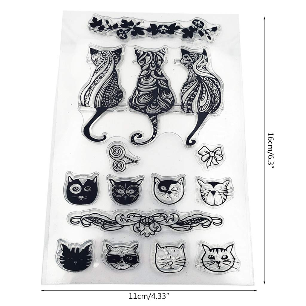 Cat Silicone Clear Seal Stamp DIY Scrapbooking Embossing Photo Album Decorative Paper Card Craft Art Handmade Gift