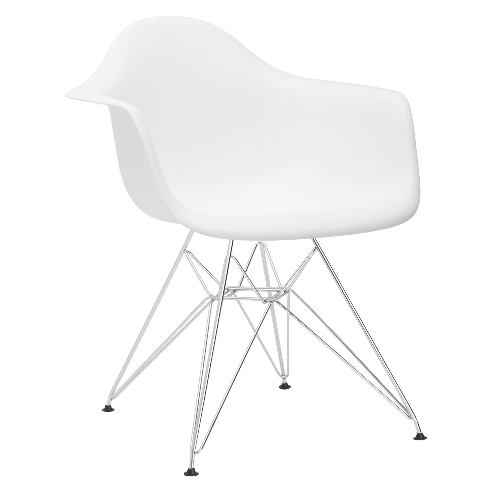 Poly and Bark Padget Arm Chair in White