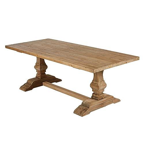 Pieza Única) mesa comedor madera maciza rustica - A Medida: Amazon ...