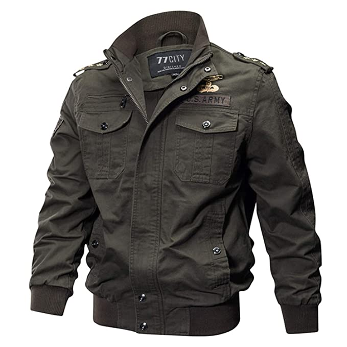 Military Jacket Men Cotton Pilot Jacket Coat Army Mens ...