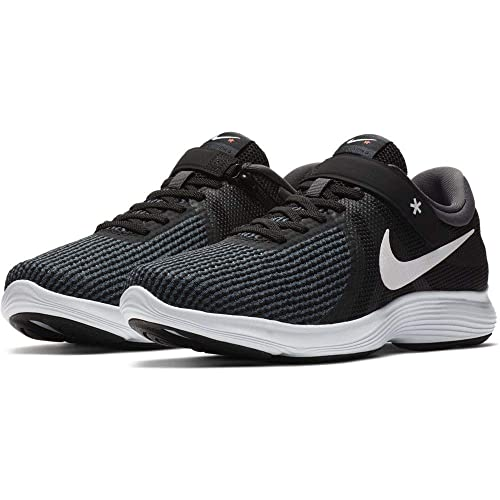 1ab1285497b3 NIKE Men s Revolution 4 Flyease Black White-Anthracite Running  Shoes(AA1729-001