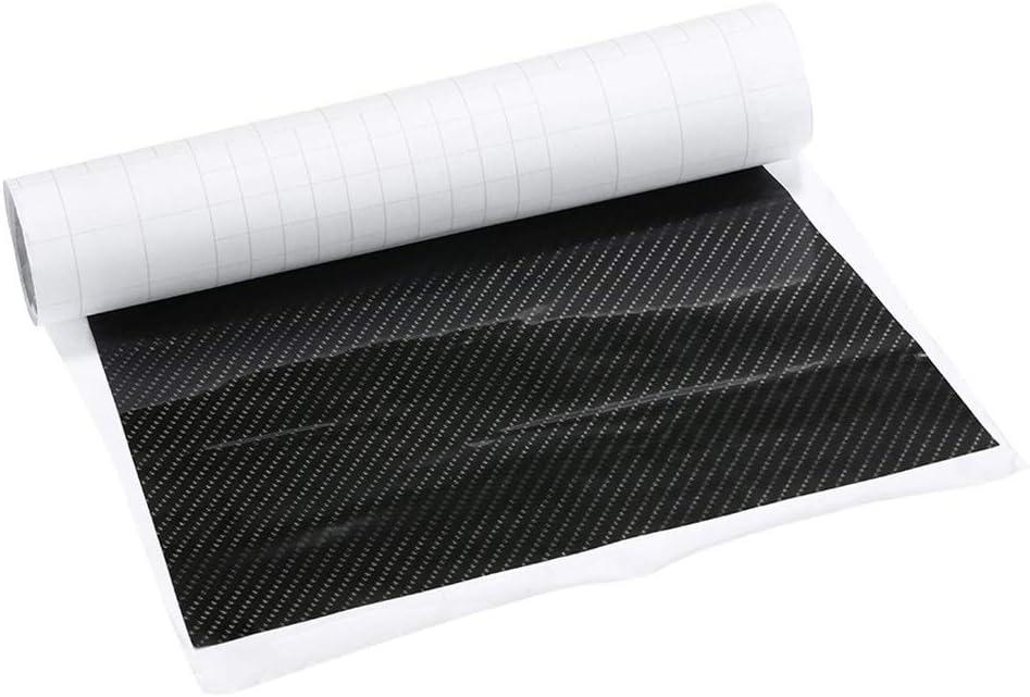 YO-HAPPY Car Center Konsole Wrap Kit Aufkleber Dashboard Matt Carbon Fiber Schwarz F/ür Tesla Model 3