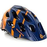 661 SixSixOne Recon MTB Bicycle Helmet (CPSC) - NAVY/ORANGE (CLOSEOUT) _7168-71