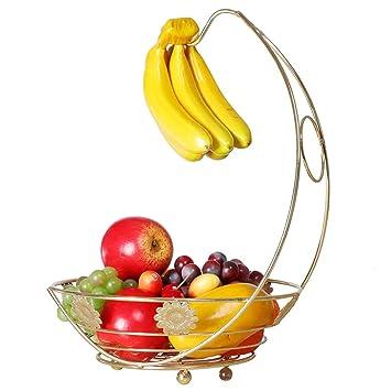 Zhihe Bandeja De Fruta Y Plátano Bandeja De Fruta Integrada Bandeja De Fruta Decorativa Creativa Frutero: Amazon.es: Hogar