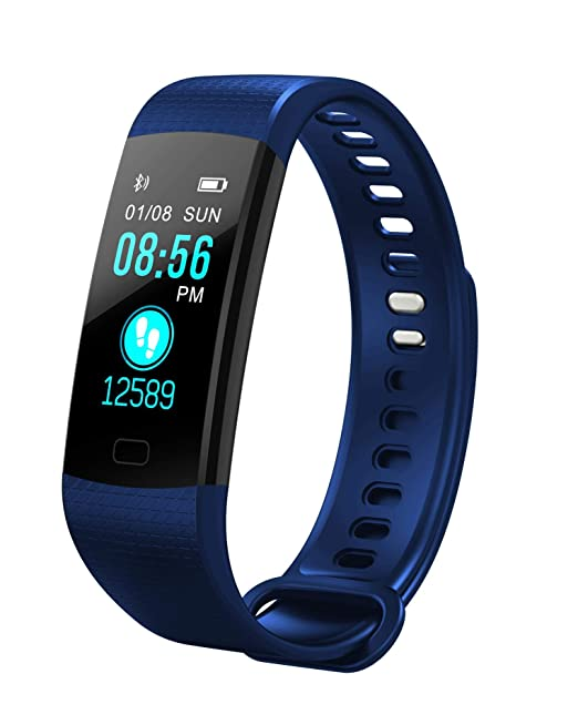 Amazon com: Smart Watch Slim Fitness Tracker Heart Rate