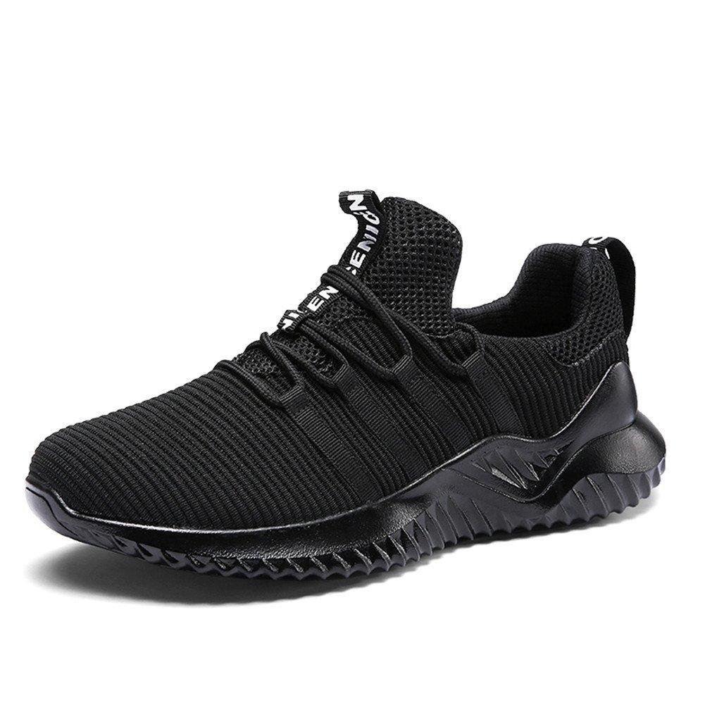 TALLA 38 EU. Hombre Zapatillas Deporte Zapatos para Correr Athletic Cordones Running Sports Sneakers Negro Blanco Rojo Gris Marrón 38-46 EU