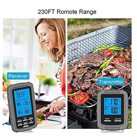 Termometro cocina-TianranRT Termómetro de carne inalámbrico ...