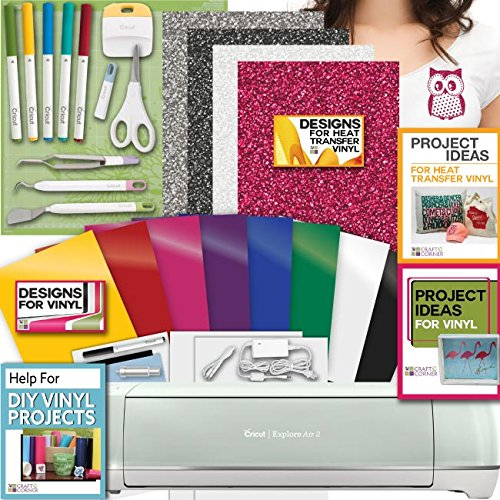 Cricut Explore Air 2 Machine Bundle   Heat Transfer  Vinyl Pack  Tools Pens   Designs