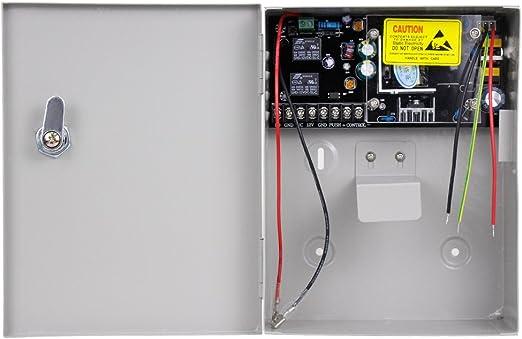 DC12V 5A Salida AC90V-260V Entrada fuente de emergencia de respaldo de UPS HFeng Caja de fuente de alimentaci/ón de control de acceso caja de bater/ía