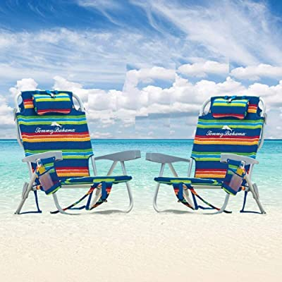 Backpack Beach Chairs Stripes