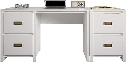 Little Seeds Monarch Hill Haven Single Pedestal Desk Nightstand Desk and Nightstand