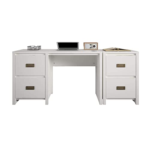 Little Seeds Monarch Hill Haven Single Pedestal Desk Nightstand Desk and Nightstand