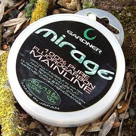 Gardner tackle mirage fluorocarbone mainline 100m 200m 600m carp coarse fishing