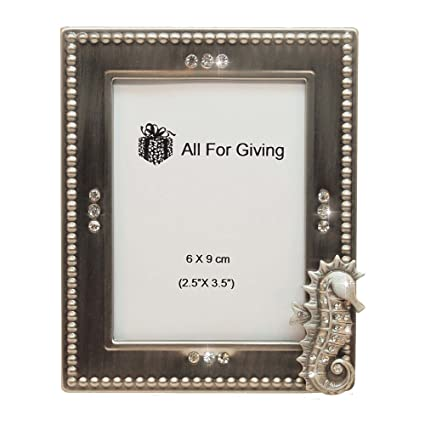Amazon.com: All For Giving Seahorse Picture Frame, 2.5 x 3.5 ...