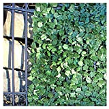 ALEKO ARLF98X39MAPLE Faux Maple Privacy Fence Screen Artificial Hedge Vine Mesh Outdoor Decorative Trellis 98 X 39 Inches Green
