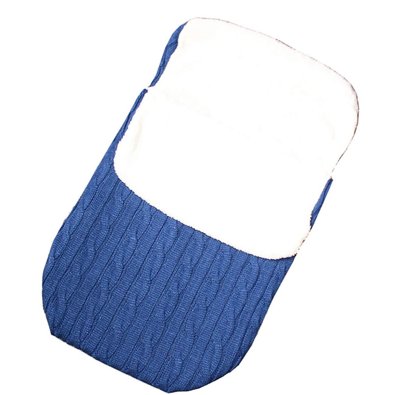 Uheng Newborn Baby Swaddle Blanket Wrap Kids Toddler Knit Soft Warm Fleece Infant Bunting Bag Sleeping Bag Sack Footmuff Stroller Unisex Wrap for 0-12 Month Boys Girls